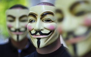 "Activists of the organization ""Anonymous"